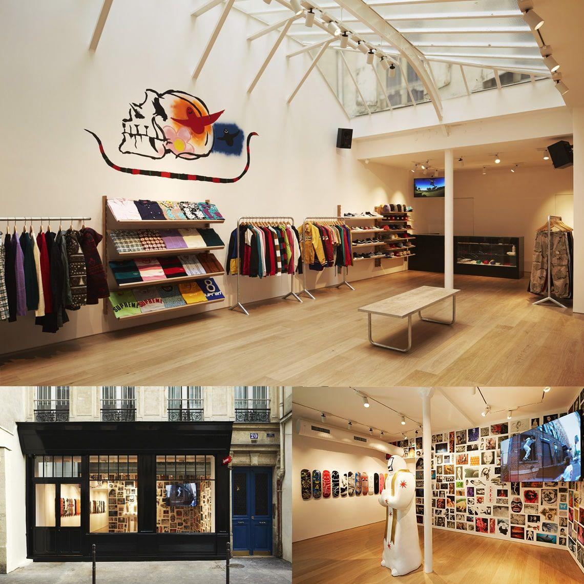Photo de la boutique Supreme à Paris