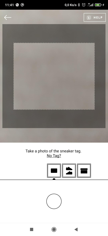 Page permettant de prendre les 3 photos de ma paire de chaussures ?