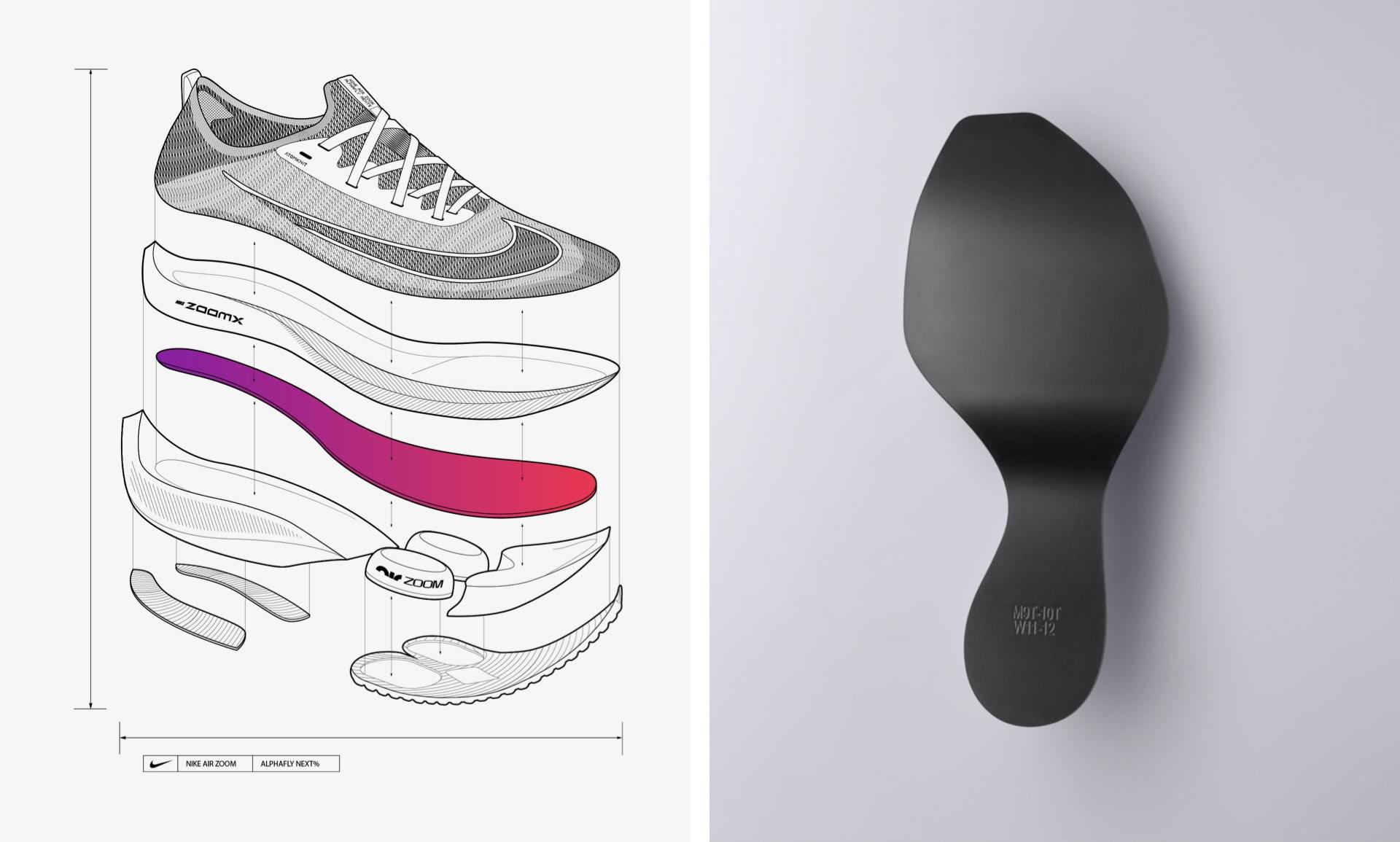 Photo officielle de la composition de la semelle de la Nike Air Zoom Alphafly NEXT%