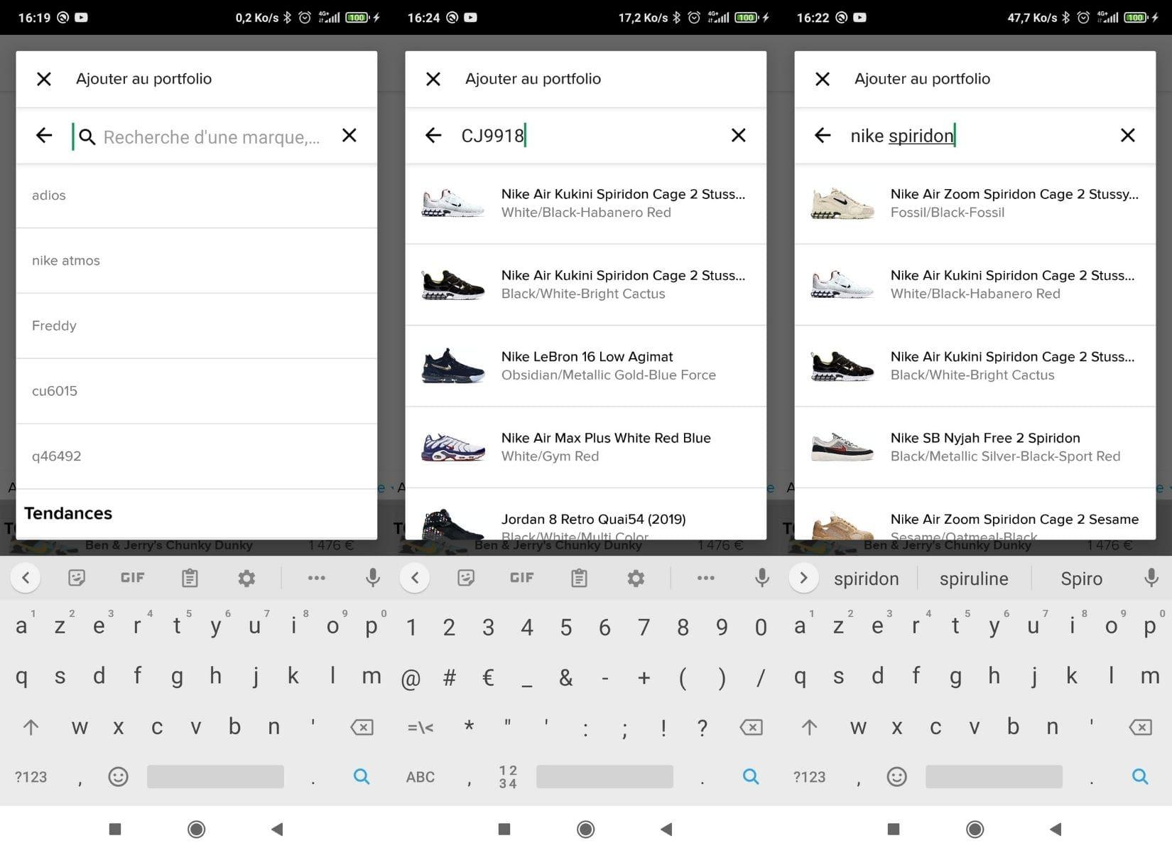 Différentes façons de trouver la paire de chaussures sur le moteur de recherche de Stockx
