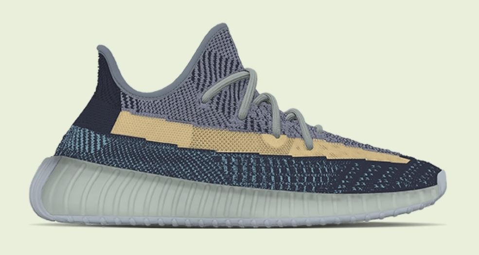 "Photo de la basket Adidas Yeezy Boost 350 V2 ""Ash Blue"""